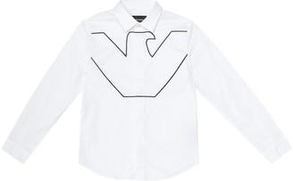 Emporio Armani Kids Stretch-cotton shirt