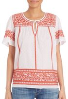 Calypso St. Barth Vinduri Embroidered Top