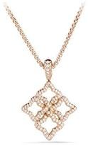 David Yurman Venetian Quatrefoil Pendant Necklace With Diamonds In