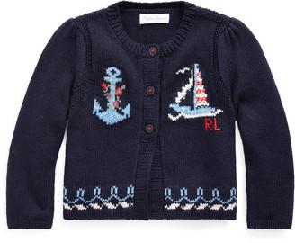Ralph Lauren Nautical Cotton Cardigan