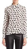 Alice + Olivia Willa Silk Top