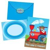 Eeboo Train 1 Birthday Card - 6 ct