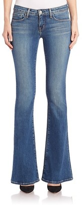 L'Agence Elysee Low-Rise Flared Jeans