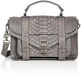 Proenza Schouler Women's Python PS1 Tiny Shoulder Bag-GREY