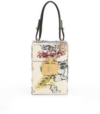 Oscar de la Renta Alibi Floral Top Handle Box Bag