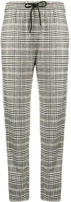 Patrizia Pepe Checked Straight Trousers