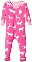 Hatley Classic Horses Footed Coveralls (Baby) - Pink - 18-24 Months
