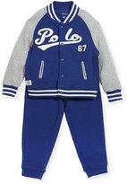 Ralph Lauren Lightweight Terry Baseball Jacket w/ Sweatpants, Size 9-24 Months