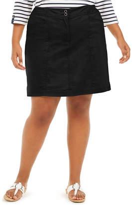 Karen Scott Plus Size Knit-Waistband Skort