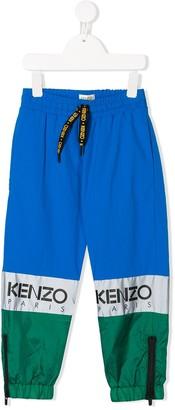 Kenzo Kids Colour Block Track Pants