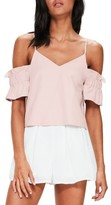 Missguided Women's Brushed Off The Shoulder Top