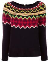 Twin-Set fair isle knit jumper