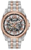 Bulova Automatic Stainless Steel Rose Goldtone Bracelet Watch
