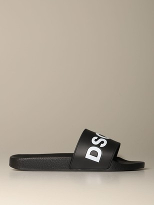 DSQUARED2 Rubber Sandal With Logo Print