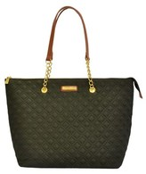 Adrienne Vittadini Quilted Nylon Tote.