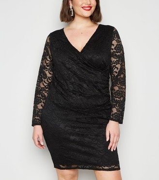 New Look Curves Lace Mini Dress