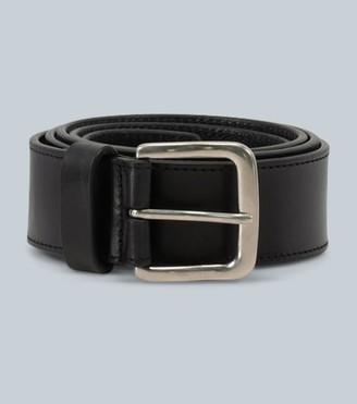 Dries Van Noten Smooth leather belt