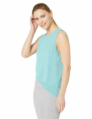 Andrew Marc Women's Boxy Tank Top with Mesh Panels