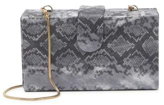 Urban Expressions Snakeskin Embossed Clutch