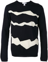 Comme des Garcons panel detail lightweight knitted jumper - men - Wool - M