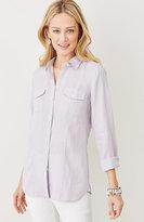 J. Jill Two-Pocket Linen Shirt