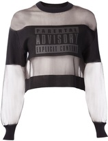 beyonce knowles  Who made  Beyonce Knowles white stripe mesh long sleeve top?