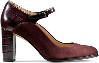 Clarks Kaylin Alba Leather Suede Mary Jane Pumps