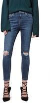 Topshop Petite Women's Moto 'Jamie' Ripped Skinny Ankle Jeans