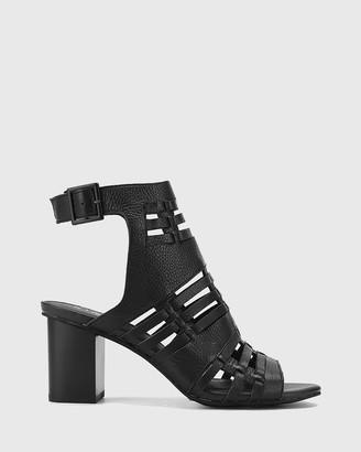 Wittner Nicolae Leather Open Toe Block Heels