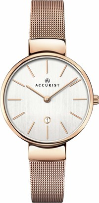 Accurist Womens Analogue Japanese Quartz Watch with Stainless Steel Strap 8079