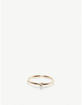 Chicco The Alkemistry Zoë 14ct yellow-gold and diamond bezel ring