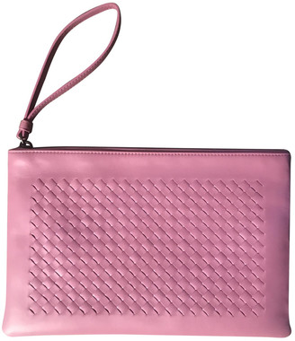 Bottega Veneta Pink Leather Clutch bags