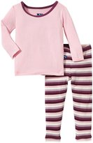 Kickee Pants Print Pajama Set (Baby) - Dino Stripe-12-18 Months