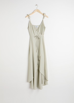 And other stories High Low Wrap Midi Dress