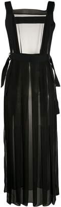 McQ sheer D-ring apron dress