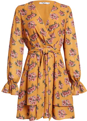 NA-KD Flowy Floral Long Sleeve Dress