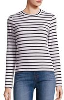 J Brand Harper Striped Crop Top