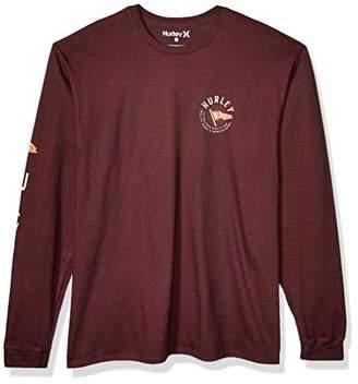 Hurley Men's M PRM Flag Ls T-Shirt,M