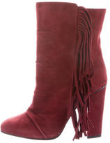 Giuseppe Zanotti Fringed Suede Ankle Boots