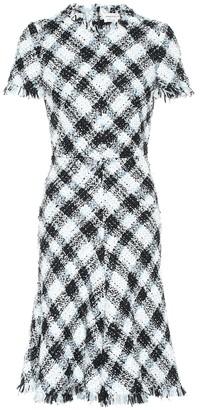 Alexander McQueen Checked tweed dress