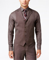 Sean John Men's Classic-Fit Brown Pindot Vest