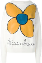 Christopher Kane knitted flower jumper - women - Cotton/Nylon/Mohair/Wool - S