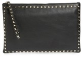 Valentino Small Rockstud Vitello Leather Clutch - Black