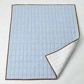 Bacati Metro Blue/White/Chocolate Quilted Toddler Throw Play Mat