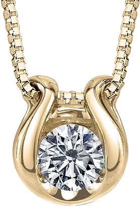 Sirena 1/12 CT. Diamond Solitaire 14K Yellow Gold Pendant Necklace