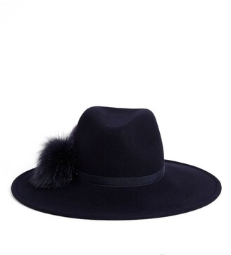 Canadian Hat Felt Fur-Trim Fedora