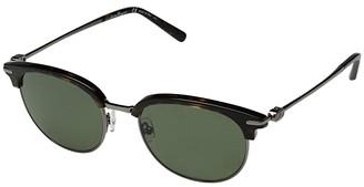 Salvatore Ferragamo SF2164SPM (Havana/Dark Ruthenium/Solid Green Polarized) Fashion Sunglasses