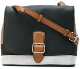 Burberry House Check crossbody bag - women - Cotton/Jute/Calf Leather - One Size