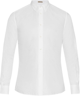 Bottega Veneta Button-cuff cotton oxford shirt