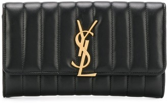 Saint Laurent large Vicky flap wallet